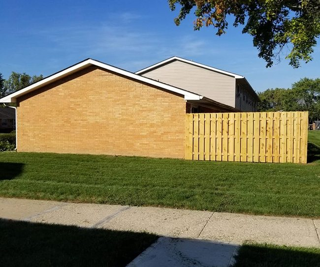 Large private patios with privacy fences.